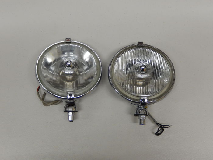 A Pair of Chrome 1970's Lucas FT / LR 10 / 11 Spot Light and Fog Light in Excellent Used Vintage Condition