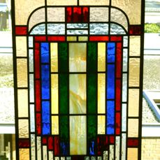 Stained glass window - Geometric motifs - 20th century - Art Deco style
