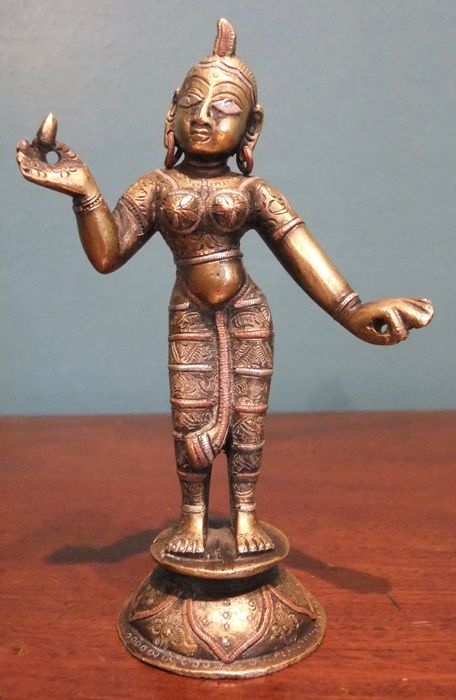 Bronze figure of Radha - India - 2nd half 20th century