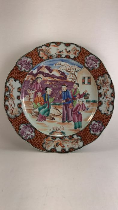 Compagnie des INDES plate, QIANLONG era, CHINA, 18th century