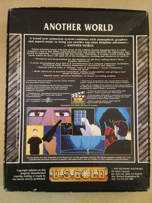 ULTRA RARE - Another World Commodore Amiga Game - Éric Chahi