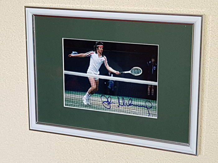 John McEnroe - Tennis Legend - hand signed framed photo  + COA