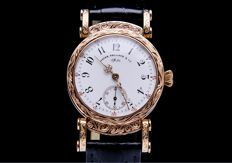 Patek Philippe - chronometer 14k solid gold hand engraved watch - Men - 1890
