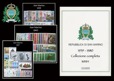 San Marino, 1959-1980 - Ordinary mail complete collection - 21 year's issues