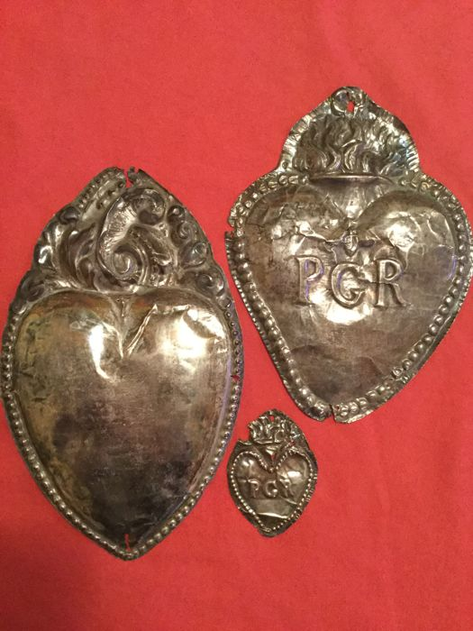 Rare ex-voto items made of silver - Italy - second half of 18th century