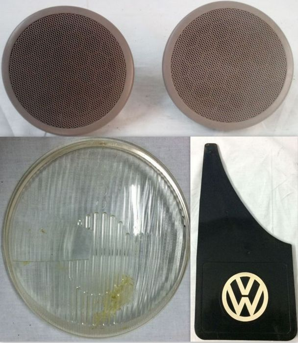 Volkswagen Mud Flap, Car Speakers and Headlight Glass - 1950-1970