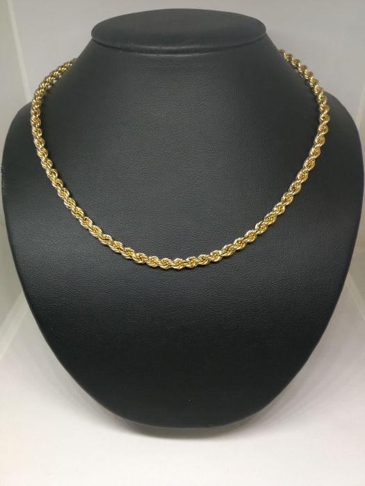 Cord of 18 kt (750) gold - 51 cm