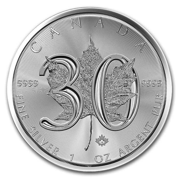Canada - 5 dollars 2018 'Maple Leaf - 30 Years' - 1 oz silver