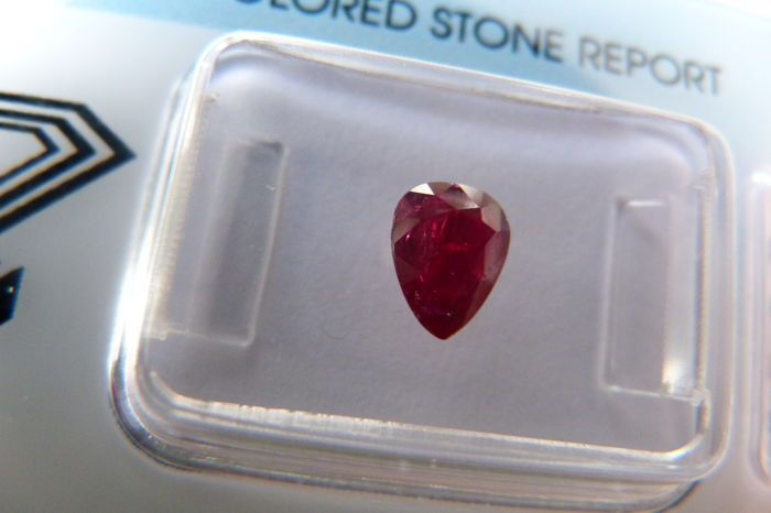 Ruby of 0.80 ct (No reserve price)