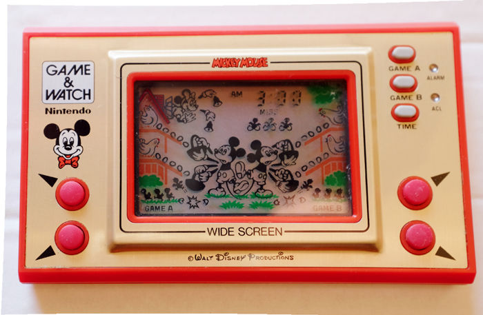 disney handheld game nintento game watch mickey mouse