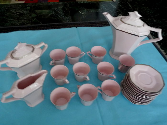 Czechoslovakian porcelain - coffee set - Art Deco style.