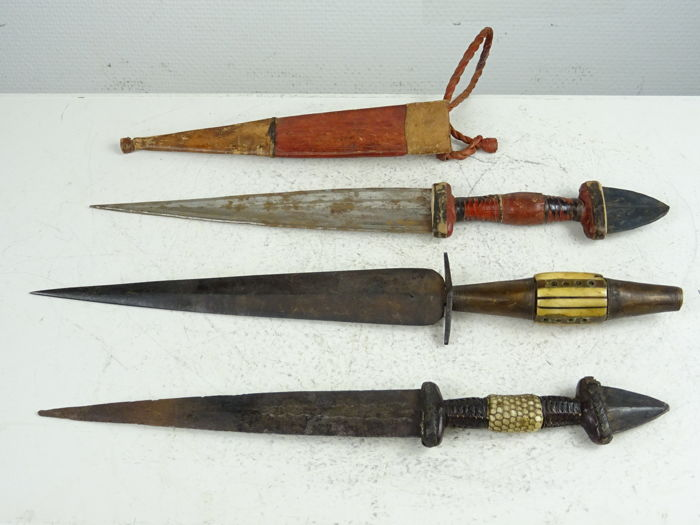 Three Tuareg daggers - Southern Algeria - first half of the 20th century