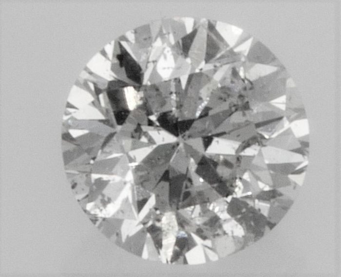 Round Brilliant Cut  - 1.01 carat - H color - SI1 clarity- Comes With AIG Certificate + Laser Inscription On Girdle