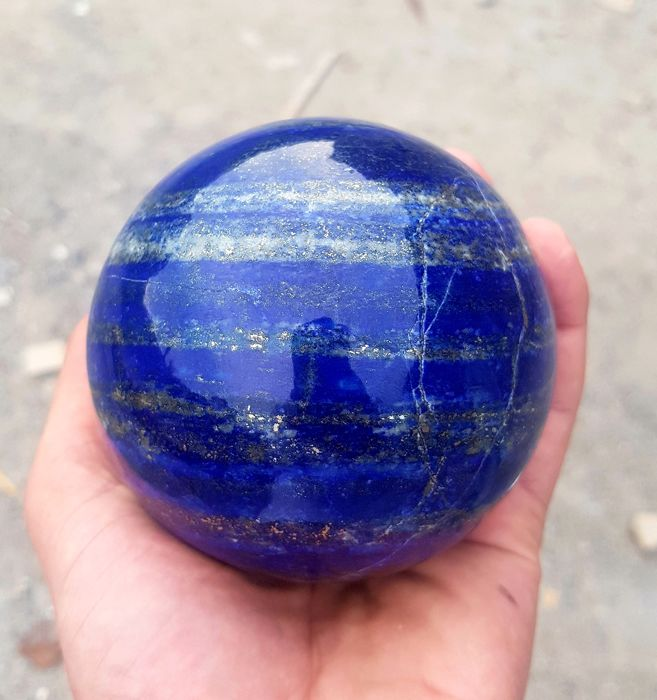 Top Quality Royal Blue Lapis Lazuli Sphere -97 mm - 1450 gm