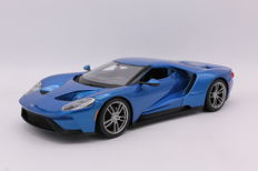 Maisto - Schaal 1/18 - Ford GT - 2017 - Color: Blue