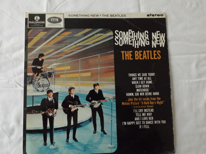 Rare,Rare 1965 U.K. Export Only LP Beatles Album release Something New released in 1965 on the Black&Yellow Parlophone Records Label