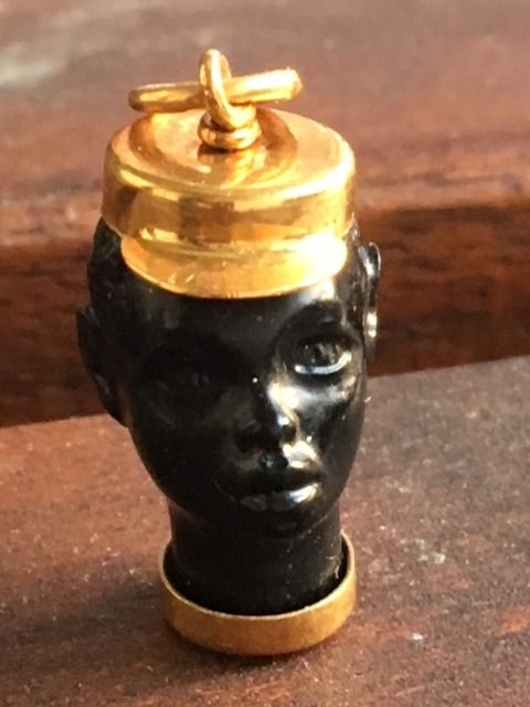 18 carat gold blackamoor