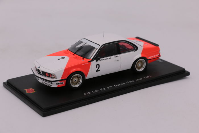 Spark - Schaal 1/43 - BMW 635 CSI - #2 - Macau Guia Race - 1983 - Limited Edition