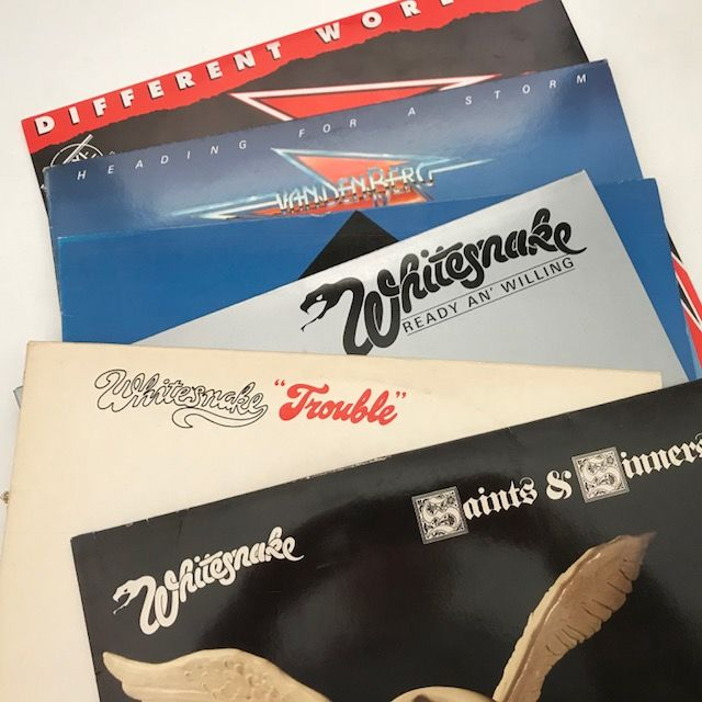 Whitesnake / Vandenberg - lot of 6 records