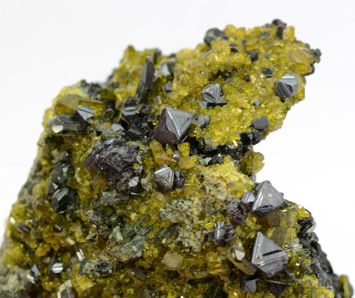 Beautiful magnetite with epidote specimen - 68 x 64 x 40 mm - 260 gm