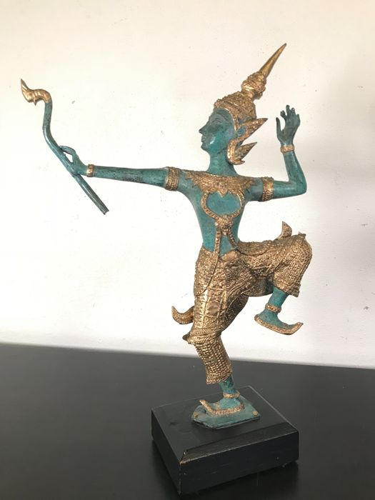 Bronze dancer - Thailand - second half of 20th century (33 cm)