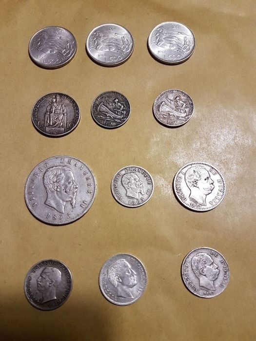 Italy and Vatican - Lot of 12 coins - silver