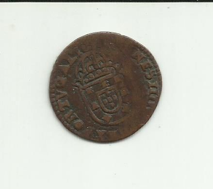 """Portugal Monarchy – D. João IV ( 1640-1656 ) – """"1 Real & Meio"""" (One Real and a Half face value) – Copper"""
