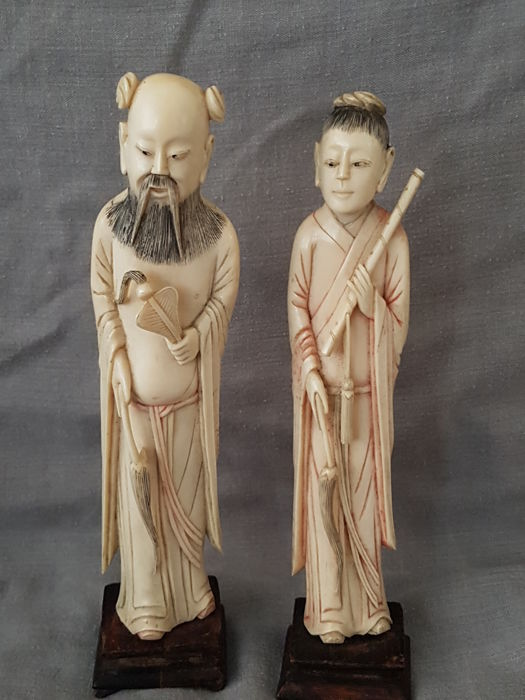 asian carved ivory sculpture