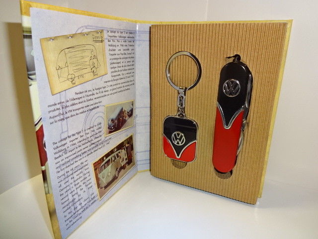 Pocket knife + Key chain set Volkswagen Bulli T1 T2