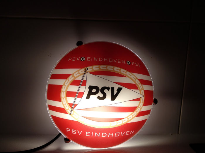 Philips Sport Vereniging - Light box PSV Eindhoven lamp - a Dutch sports club based in Eindhoven. Signed (C) - limited - hologram - serial number.
