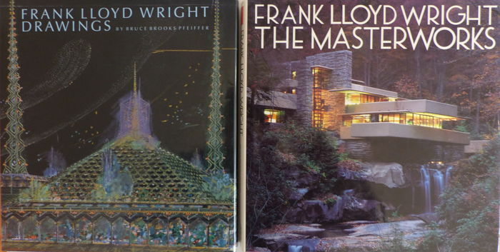 Bruce Brooks Pfeiffer -  Frank Lloyd Wright; Lot with 2 books - 1990/1993