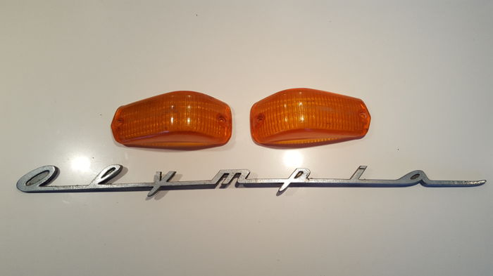 Opel Olympia - Side indicators front and emblem