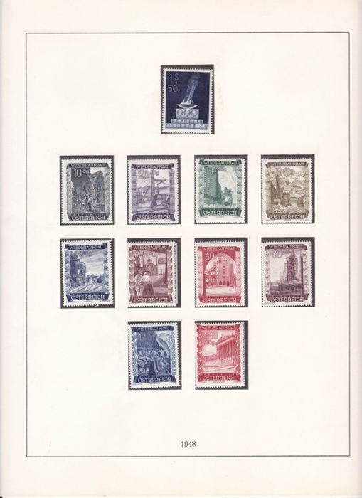 Austria 1959/1999 - Collection mounted on Linder album plus 10 annual official books.