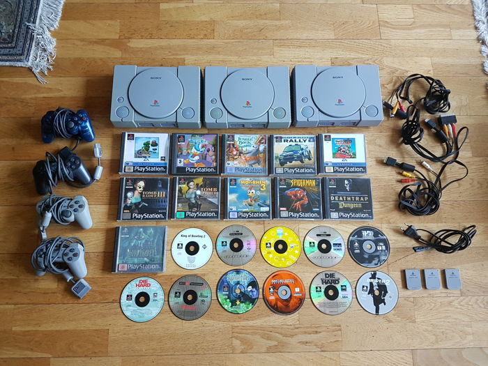 3x Playstation with 22 games