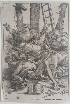 Hans Baldung Grien or Grün (c. 1484 – 1545) - Lamentation for Christ - from the personal collection of Johan Phillip van der Kellen