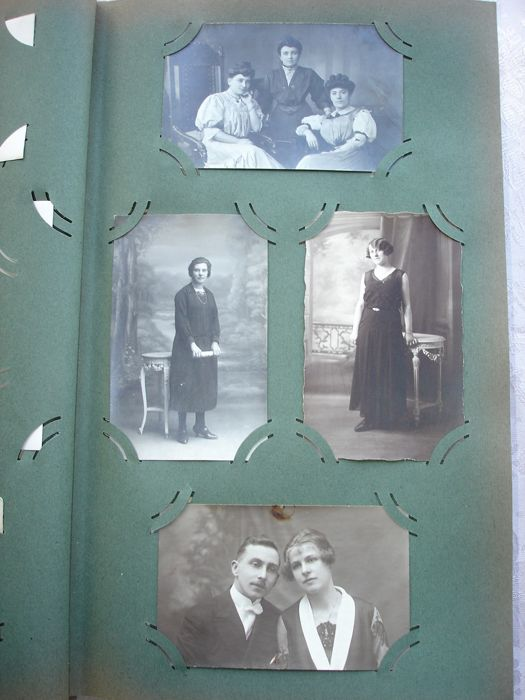 Nice collection of about 300  old portrait photograph's in  nostalgic retro album