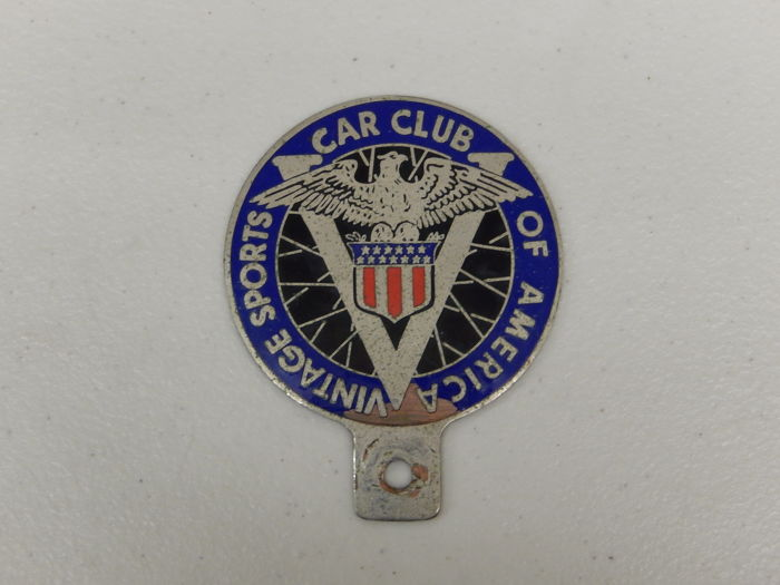 Vintage Original Metal Vintage Sport Car Club Of America Car Badge