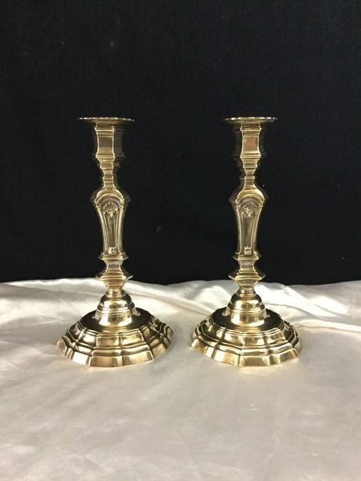 Pair of candlesticks in bronze - Regency period - France - middle 18th