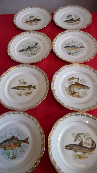 Limoges - 8 fish plates
