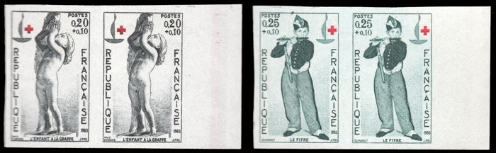 France 1963 - Red Cross - Yvert 1400/1401, imperforate