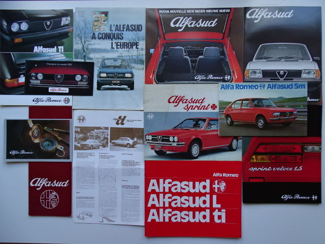 "1974 - 1987 - ALFA ROMEO ""AlfaSud"" - 1.2 / 1.3 / 1.5 / Ti / Sprint / Sprint Veloce - Lot of 12 original sales brochures"