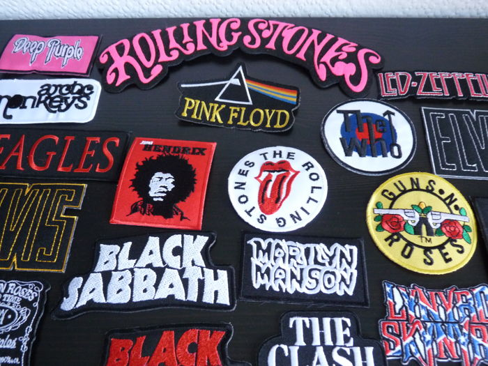 Amazing collection of  55 unused Sew On Badges All Eras