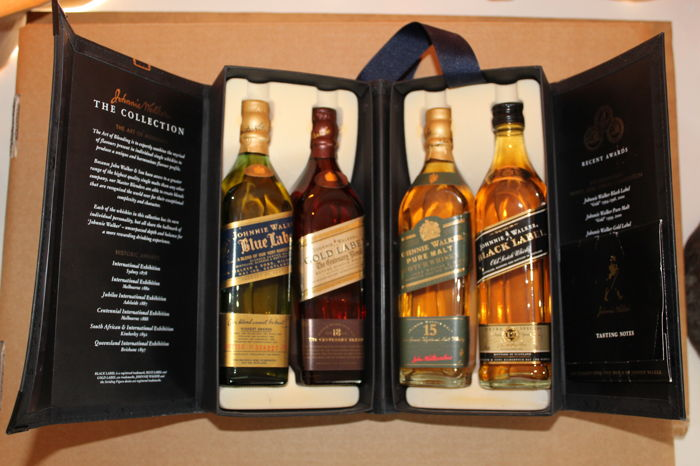4 bottles - Johnnie Walker: The Collection - 4x 20cl