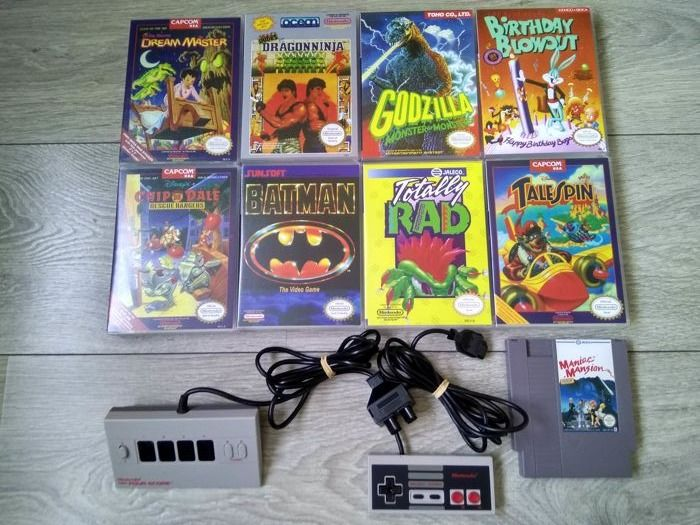 Nintendo NES - 9 games, Four Score & Controller - Games like Little Nemo the Dream Master and more