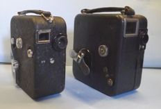 2 French film cameras by Pathé for 9.5 mm film