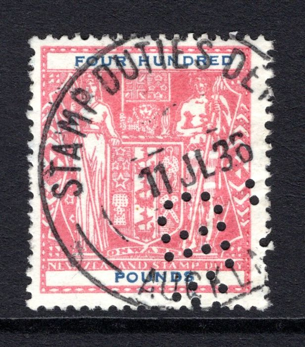 New Zealand, 1931/58 - £400 Arms Issue, Revenue/Postal Fiscal