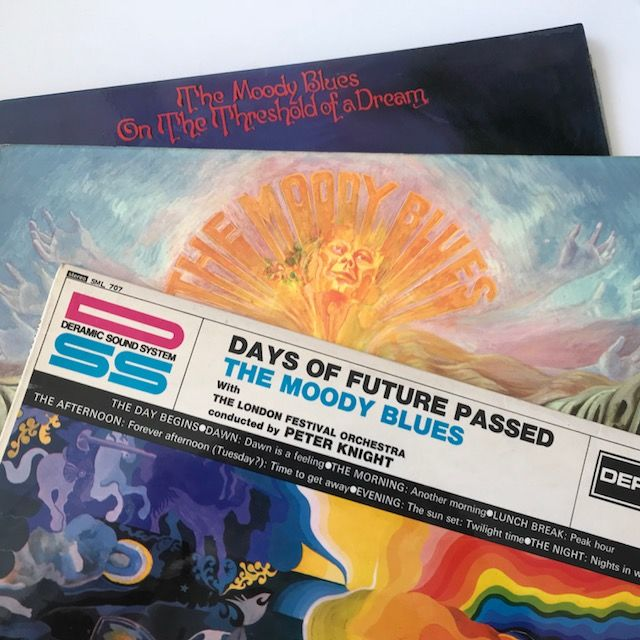 The Moody Blues - lot of the original 1960s Deram stereo LPs in