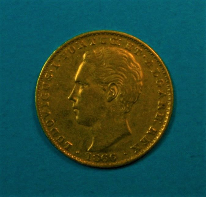 Portugal, Monarchy - Luís I (1861–1889) - 2,000 Reis - 1866 - Gold