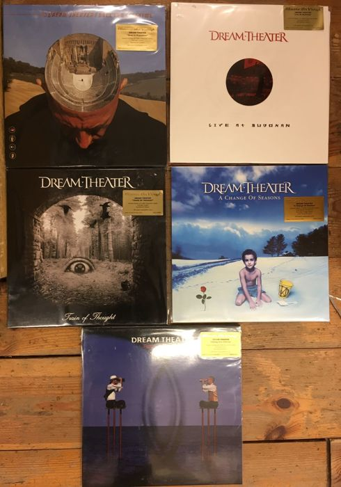 Five albums of Dream Theater II || Very High Quality vinyl || Coloured vinyl || All Limited edition || Collector items