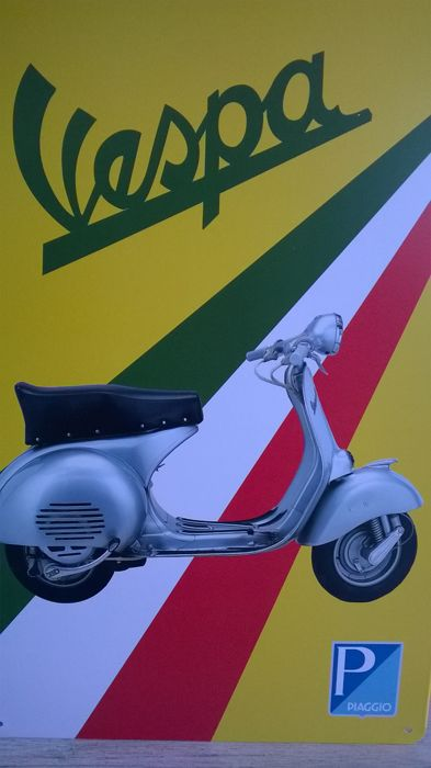 """Vespa Piaggio"" metal sign - from the 1960s"